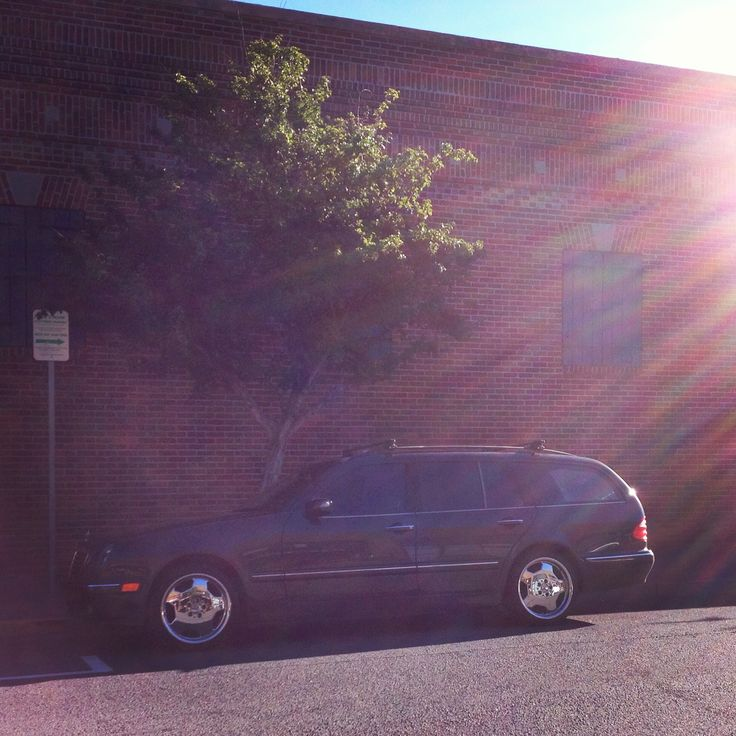My mercedes. It's a e320 wagon, with modified headlights & amg monoblocks.