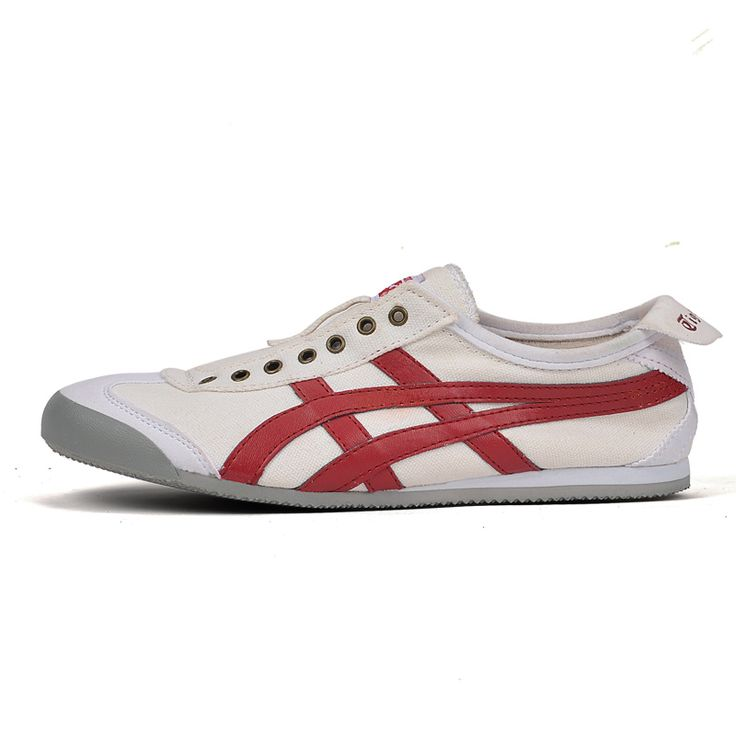 Onitsuka Tiger Mexico 66 Slip On Trainers Beige Red