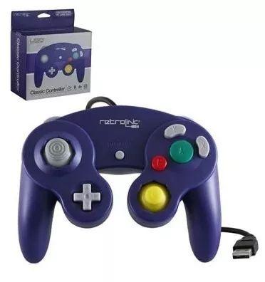 control usb gamecube nintendo retro link para pc - morado