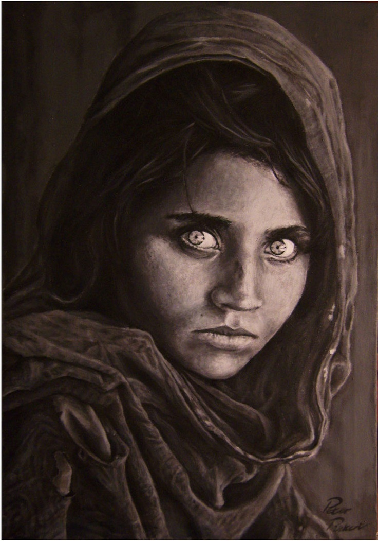 afghan girl by ~Peter709  done in 2008 when i was 16-17 with acrylic
