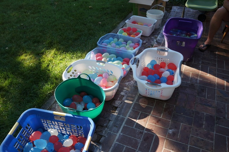 tiny scissor times: a calvin and hobbes birthday party.  650 water balloons!