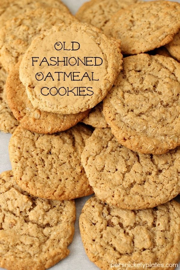 Old Fashioned Oatmeal Cookies. Why buy oatmeal cookies from the store when you make these beauties right at home? | Persnickety Plates