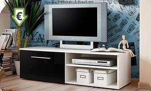 Groupon - Mueble de TV modelo Dugara en blanco o negro por 89 € (55% de…