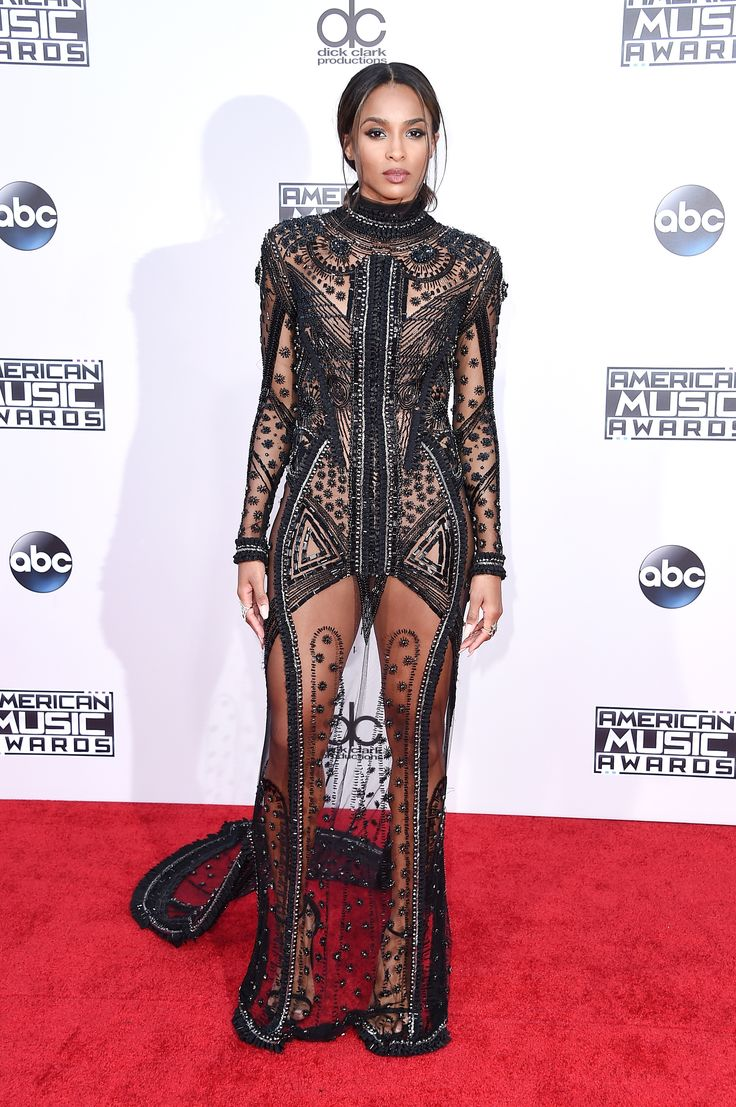 AMA Awards 2015 - Ciara In Reem Acra