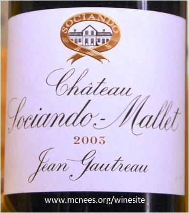 chateau sociando mallet pure cabernet sauvignon.