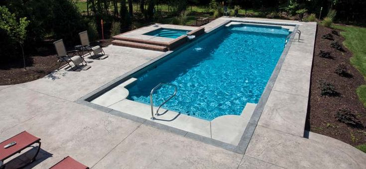 75 best get out of the stone age with a fiberglass pool for Fiberglass pool installation