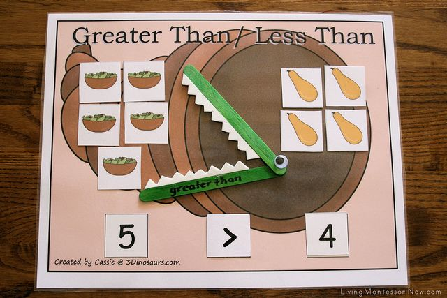 Thanksgiving Greater Than, Less Than Activity by Deb Chitwood, via Flickr