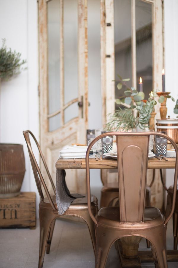 Chair love!!  Warm metals: http://www.stylemepretty.com/living/2015/03/03/ultimate-dining-chair-roundup/