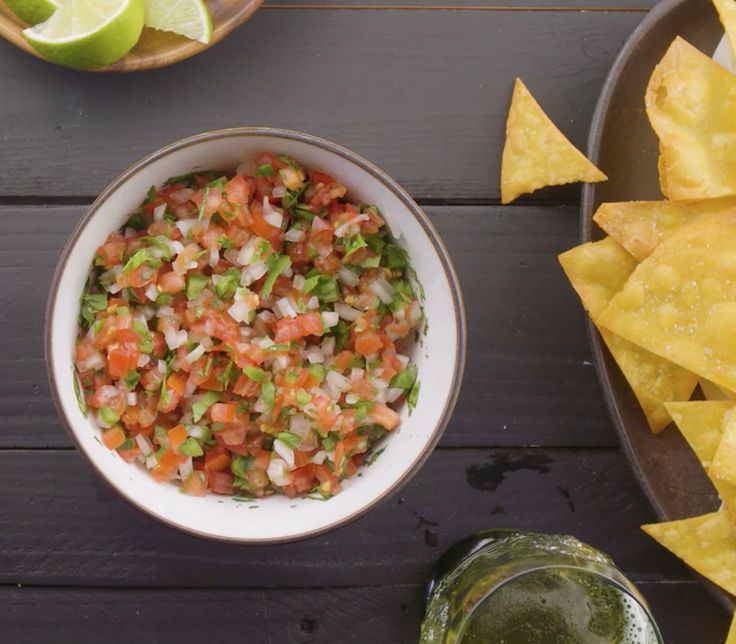 A fiery, fresh salsa to dip your chips into! Find this pico de gallo salsa recipe and more at Chatelaine.com