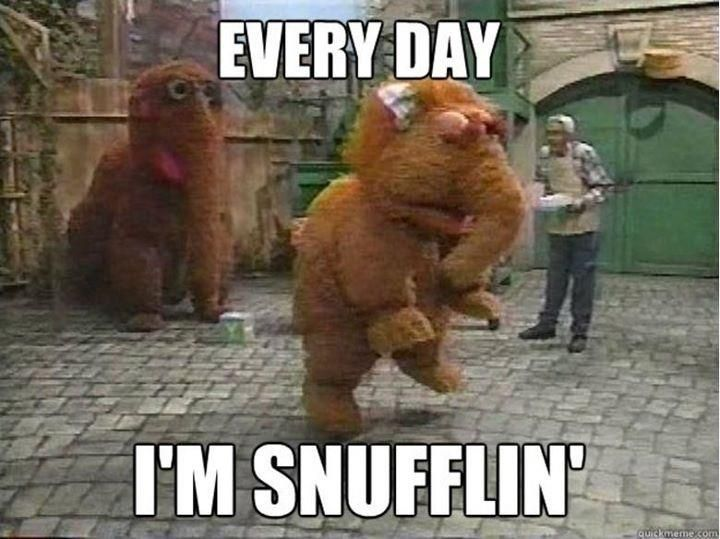 Every day I'm snufflin'