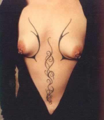 рисунки хной на груди и животе   91 фотография