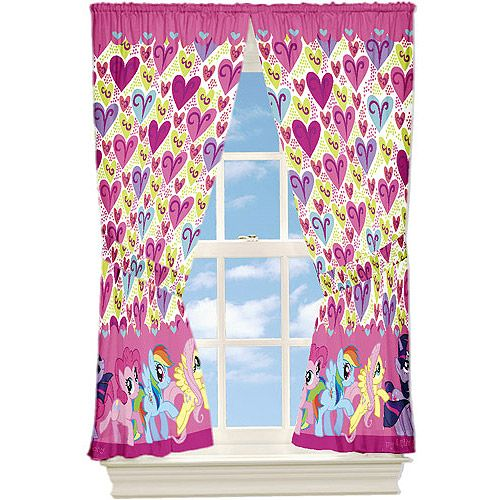 My Little Pony Microfiber Window Curtain Panels Set Of 2 I Cant Find These Curtains