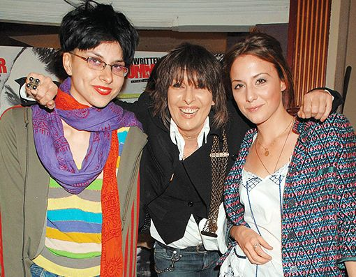 Chrissie Hynde with daughters (Natalie Ray and Yasmin)