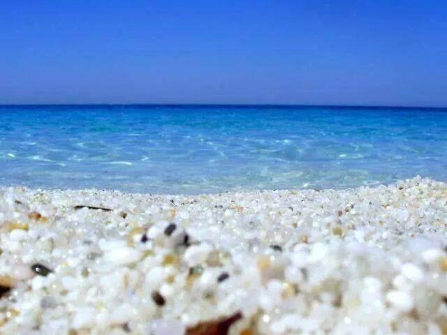 this beach...walking on marble sand Sardegna - Is Arutas