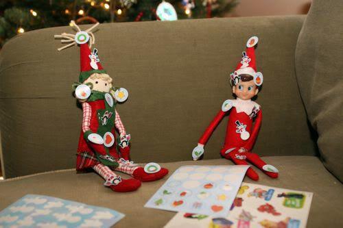 Elf loves stickers!