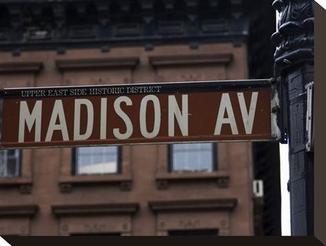 Madison Avenue Street Sign, Manhattan, New York City, New York, USA Photographic Print