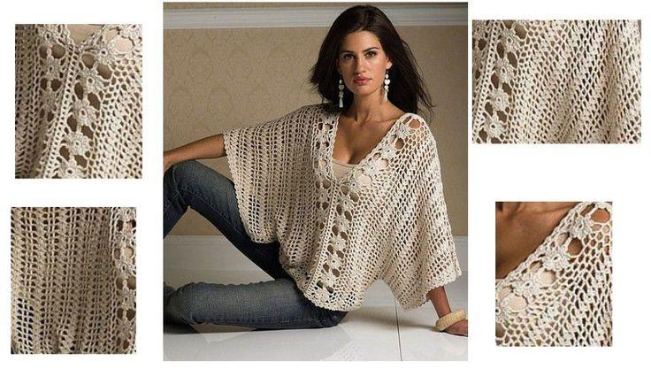Elegante y de buen gusto, esta blusa tejida con ganchillo es una bellísima prenda que no puede faltar en tu placard. Fácil de hacer, con hermoso diseñoycon patron. El Patrón: [...]