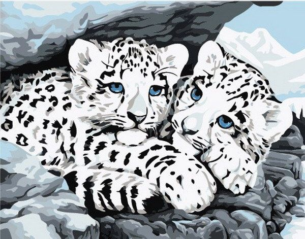New Paint By Numbers Kit DIY Acrylic Painting On Canvas PBN 16 inch  x 20 inch Animal Snow Leopard by DOVH on Etsy https://www.etsy.com/listing/204766684/new-paint-by-numbers-kit-diy-acrylic