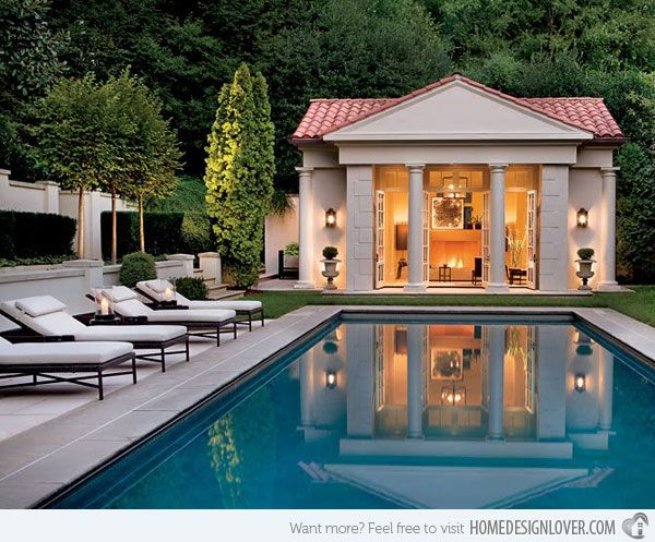 16 Fascinating Pool House Ideas