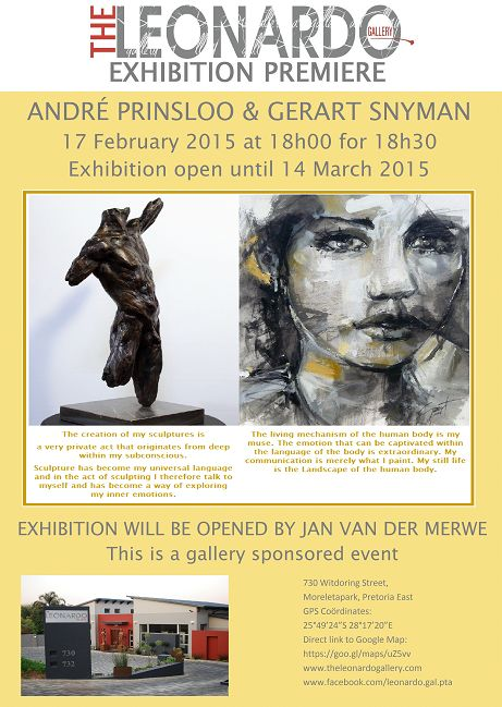Exhibition Premiere evening 17 February 2015 with Andre Prinsloo and Gerart Snyman