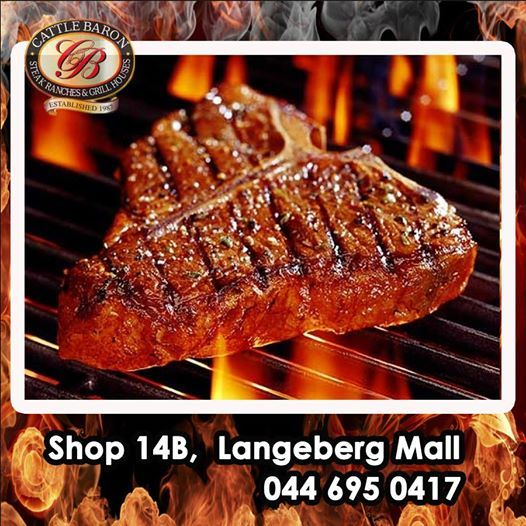 """With sizzling hot temperatures in Mossel Bay, who really wants to stand in front of a fire or stove? Cattle Baron Mossel Bay will prepare you a steak so """"hot"""" you won't feel the outside temperature. #cuisine #steakhouse #sizzlingsteaks"""