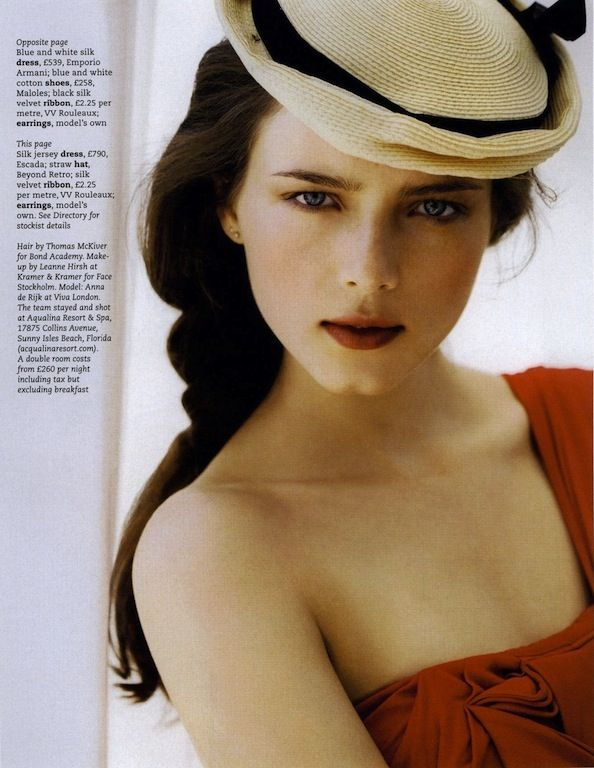 """""""Beyond the Sea"""": Anna de Rijk by Kim Meyers Robertson by for Marie Claire UK June 2009"""