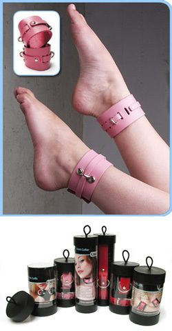 Eight Shades of Play - pink ankle cuffs