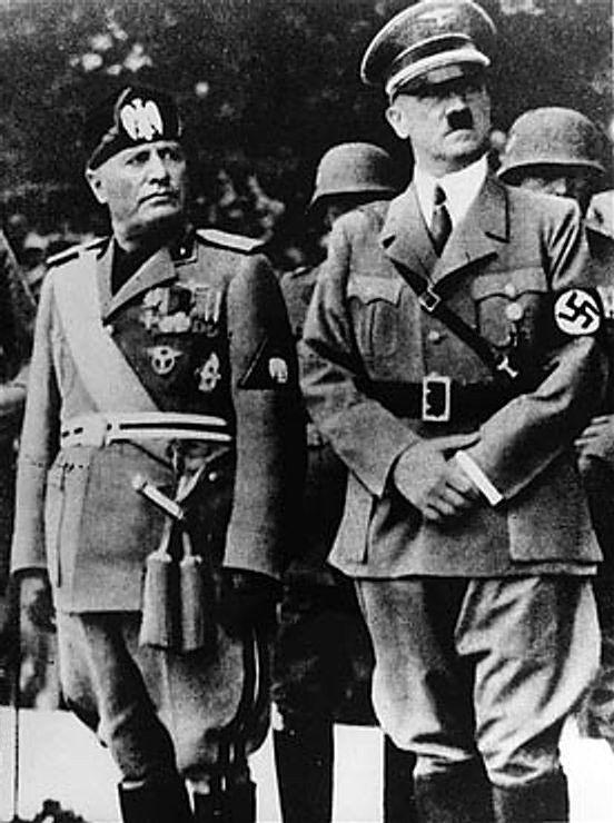 Benito Mussolini & Adolf Hitler.
