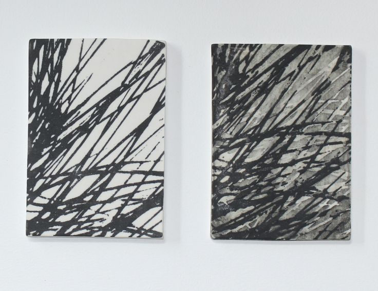 Patterns in Nature 2 by Jo Hannah.  Underglaze on Porcelain. #Ceramics #Printmaking