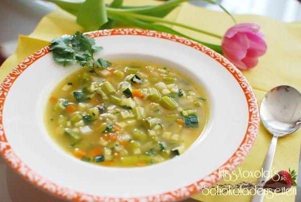 Ayurvedische Reissuppe Gemüsesuppe