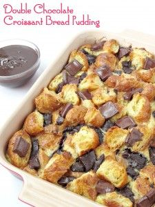 Double Chocolate Croissant Bread Pudding- A simple but fancy bread pudding that is perfect for brunch or dessert!Every month I look forward to receiving my issue of The Food Network Magazine. This past month this Double Chocolate Croissant Bread Pudding was in it and once I saw the picture of it and I couldn't wait... Read More »