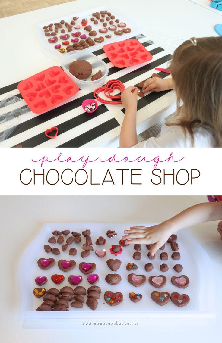 Play Dough Chocolate Shop. Fun quiet time activity.
