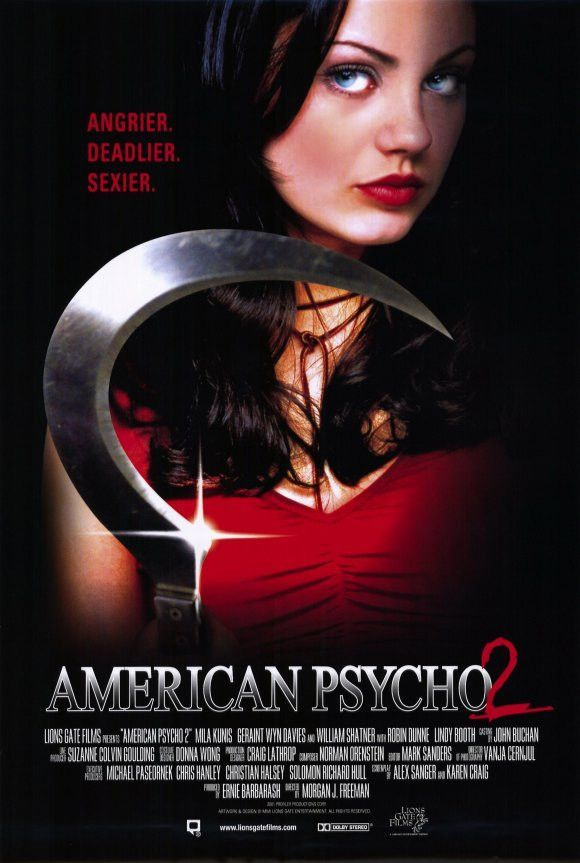 American Psycho 2 Movie Poster 27x40 Used