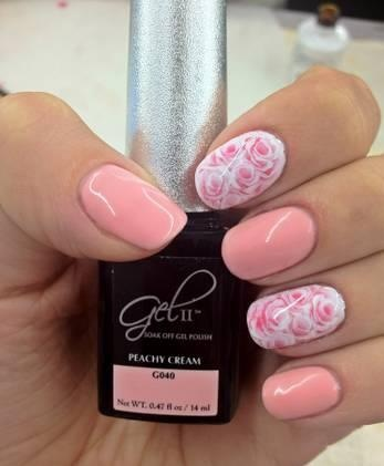 By Oksana Gel Ii Peachy Cream Nails Pinterest Nail Art And Galleries