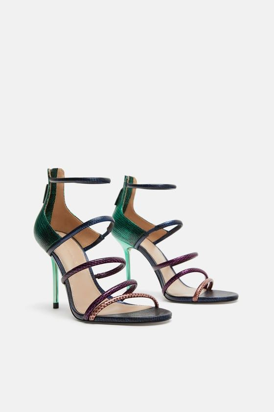 1c2fa927afd0e4 ZARA - SHOES - MULTICOLORED STRAP SANDALS