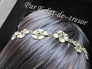 Headband doré Fleuri