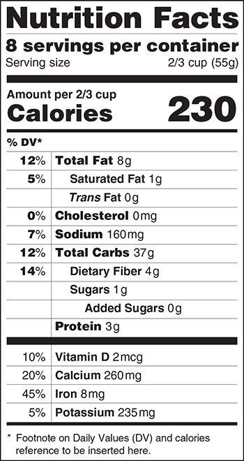 11 Best Nutrition Facts Label Images On Pinterest Food Labels