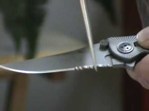 Sharpen a Serrated Knife Blade