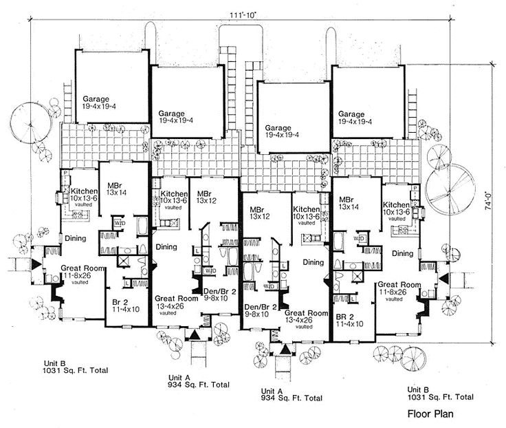 61 best mazra images on pinterest blueprints for homes floor single floor plan of traditional multi family plan 88405 malvernweather Choice Image