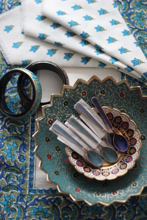 A picture of a blogger's souvenir shopping (very pretty!) from New Delhi.  She recommended the Cottage Emporium shopping centre there.  Maybe there's something similar in Mumbai?