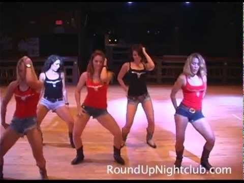 Round Up Line Dancers The Wobble Dance - Dance Club - Night Club Fort Lauderdale - YouTube