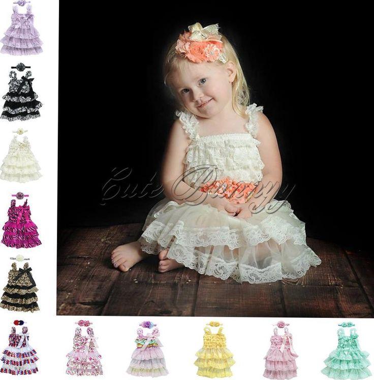 2PCS Toddler Girl Baby Princess Lace Dress Headband Wedding Party Outfits 12M-3T #Fashion #PartyDress #PartyDressyEverydayHolidayWedding