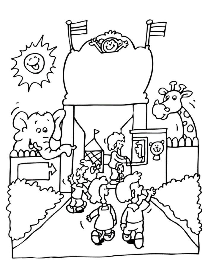 Printable Zoo Coloring Pages For Kids In 2020 Zoo Animal