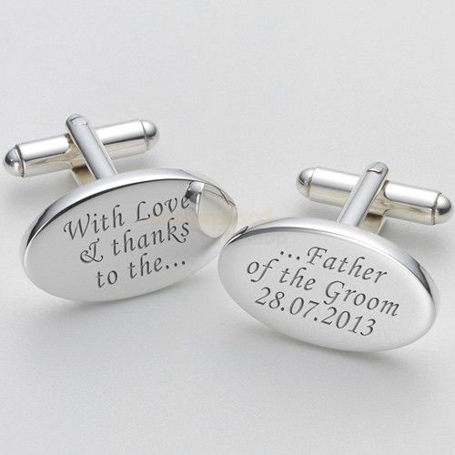 Engraved Love and Thanks Father of the Groom  Cufflinks  from Personalised Gifts Shop - ONLY £19.95
