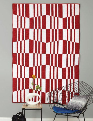house-of-mirrors, modern quilt bicolor. Appeals to my red/white obssession and my two color quilt obssession.