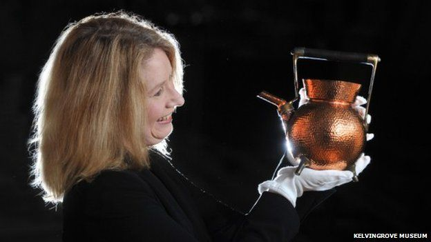 Alison Brown with Christopher Dresser kettle