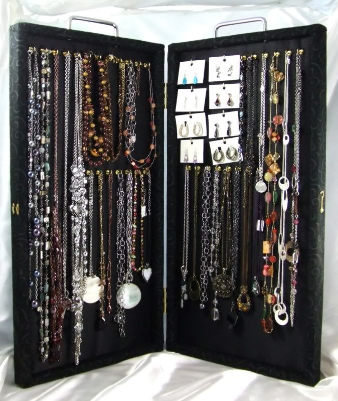 Portable Custom Jewelry Showcases. This is a really cute idea but a little expensive.