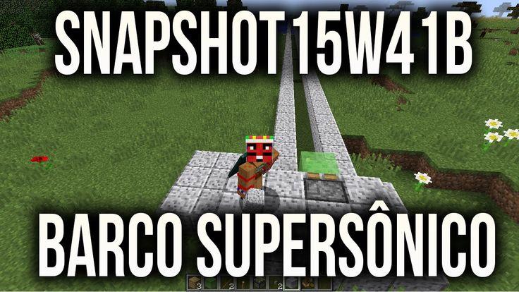 Minecraft Snapshot 15w41b - BARCO SUPERSÔNICO EXPLOIT