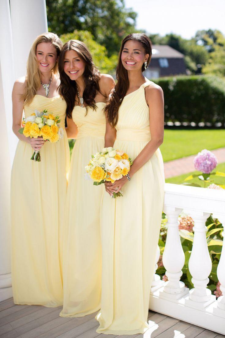 Die besten 25 zitrone brautjunferkleider ideen auf pinterest sassy chic bridesmaid dresses by donna morgan ombrellifo Images