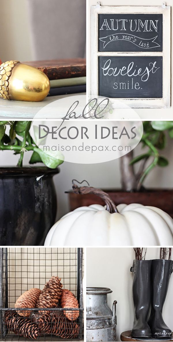 204 best { Fall Craft/Decorating Inspiration } images on Pinterest - halloween fall decorating ideas